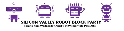 Silicon Valley Robot Block Party Banner