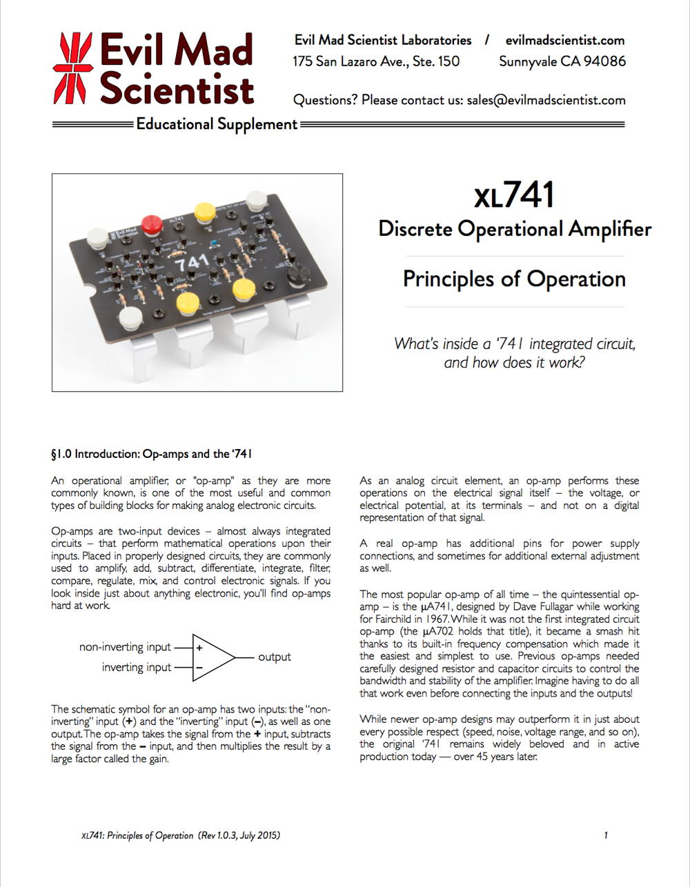 XL741 Documentation (PDF)