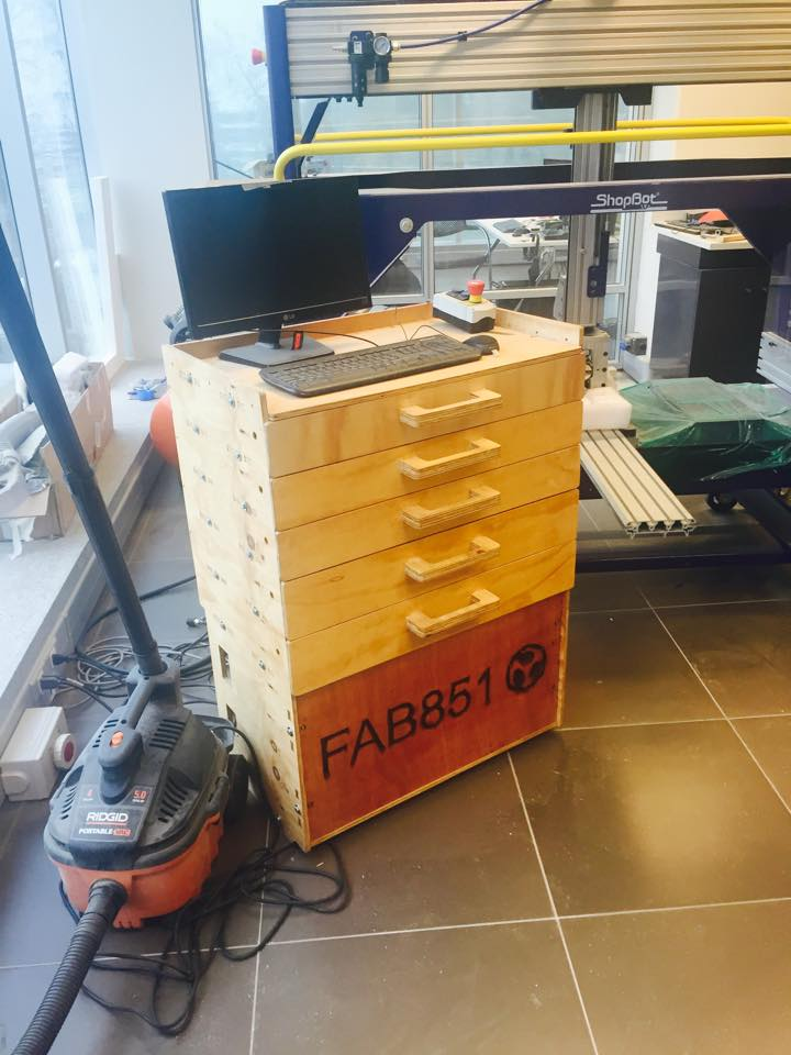 CNC workstation cart by FAB851