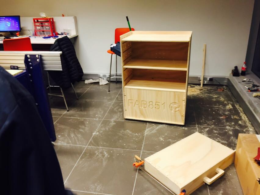 Workstation cart and drawer in progress