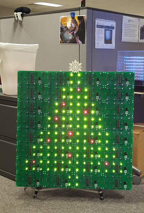 LED Christmas tree on Octolively derivative boards
